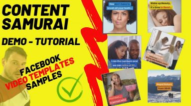 Content Samurai Demo Tutorial - How to Make Facebook Video (VIDNAMI Review UPDATE 2019)
