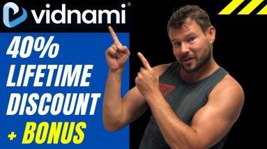 Vidnami Black Friday 40% Lifetime Discount - Vidnami $1,960 Bonus Savings